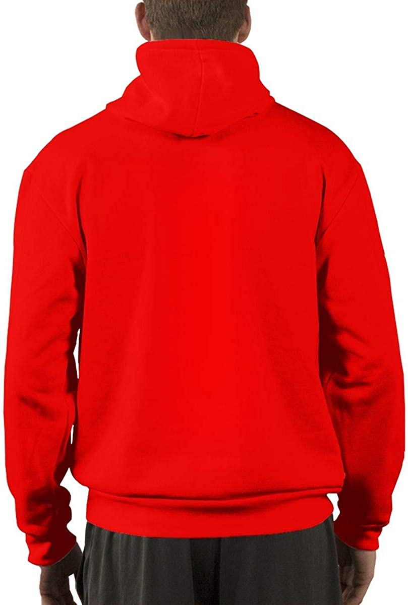 Christopherly Herren The Bouncing Souls Cotton Hoodies Pullover mit Paket Red