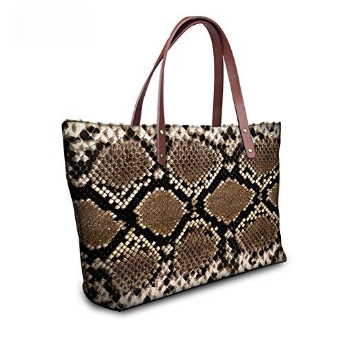 Tote Handbags leather FancyPrint C8wc0456al Casual Women Bages 0zqPv5nwxg