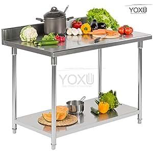 Superficie de trabajo mesa profesional de acero for Superficie cocina