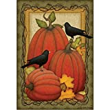 Cheap Pumpkin Patch Crows – Fall/Halloween Garden Size, 12 Inch X 18 Inch Decorative Flag