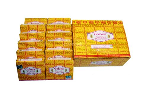 Goloka Nag Champa Dhoop Cones - Case of 12 Boxes
