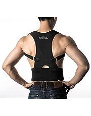 Posture Corrector Back Brace - Medical Grade Adjustable Posture Support Clavicle Support w Lower Back Lumbar Belt. Improve Bad Posture, Relieve Back Pain for Men and Women