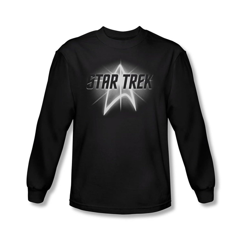 Star Trek - Mens Glow Logo Long Sleeve Shirt In Black