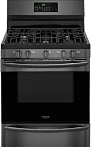 "Frigidaire Gallery 30"" Black Stainless Steel Freestanding Gas Range"