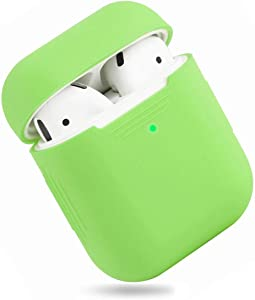 EYEKOP AirPods Case, Premium Ultra-Thin Soft Skin Cover Compatible with Apple AirPods 2 & 1 - Green