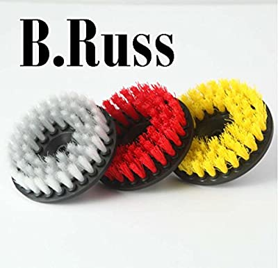 Rotary Drill Brush Cleaning Kit for Carpet, Car Mats and Tires, Tiles, Stone, Concrete, Bathroom, by B.Russ