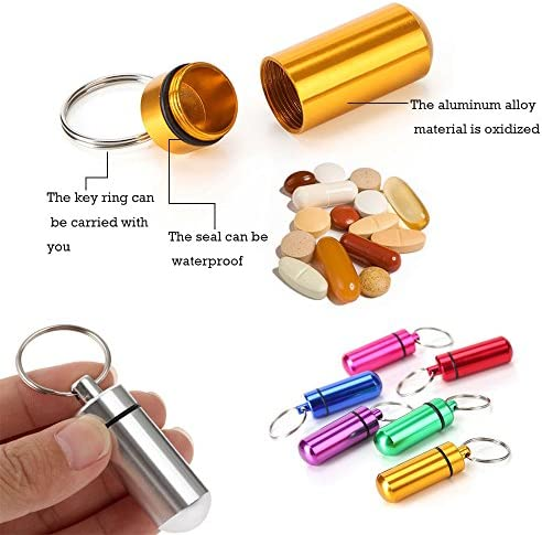 SUPER SIZED PILL SHAPED KEY FOB CONTAINER CACHE SURVIVAL EDC WATERPROOF STASH