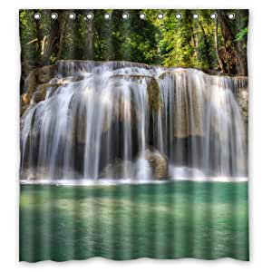 "Waterfall 100% Polyester Shower Curtain 66"" x 72"" Unique Bathroom Decoration"