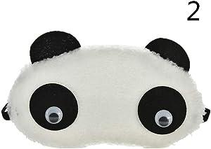 Deole - Cute Panda Sleeping Face Eye Mask Blindfold Eyeshade Traveling Sleep Eye Aid [ 2 ]