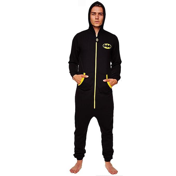 TruffleShuffle - Pijama de una pieza - para hombre, negro, Medium