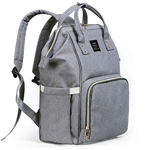 Diaper Bag Backpack, Ticent Baby Nappy Bags Multi-Function Waterproof Travel Back Pack Tote Bags for Baby Care - Large Capacity, Stylish and Durable, Gray