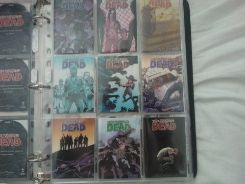 The Walking Dead Comic Book Trading Cards SDCC Binder w/ Full 91 card set! (Cryptozoic)