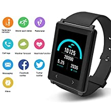 Yuntab 24h Heart Rate Monitor Smartband Z8 Fitness Tracker Bluetooth Smart Bracelet for IOS/Android-Black