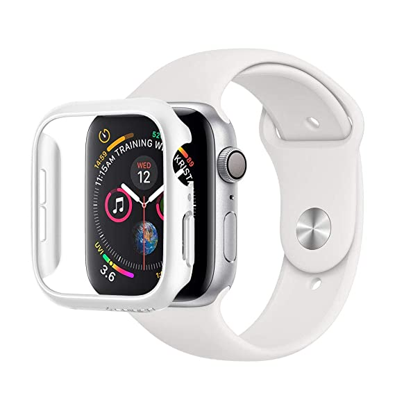 new style c2a07 63139 Spigen Thin Fit Designed for Apple Watch Case for 40mm Series 4 (2018) -  White