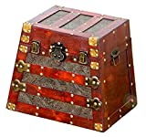 Vintiquewise(TM) Antique Pyramid Wooden Trunk, Small