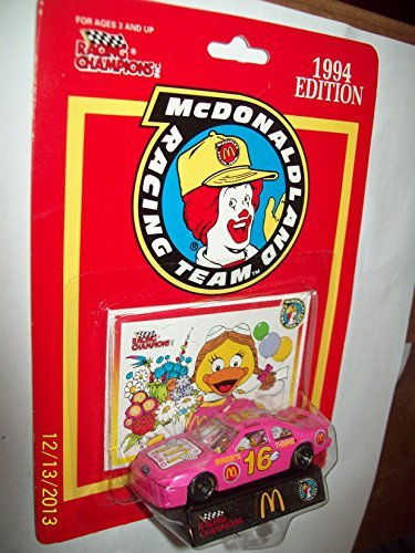 McDonald and Team   16 Racing Car and Stand 1993 by McDonald