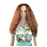 Long Curly Hair Wigs, Inkach Trendy Girls Middle Part Wave Synthetic Wig Lifelike Human Hair
