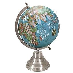 Decorative Ocean World Globe Desktop Rotating Geography Earth Table Decor
