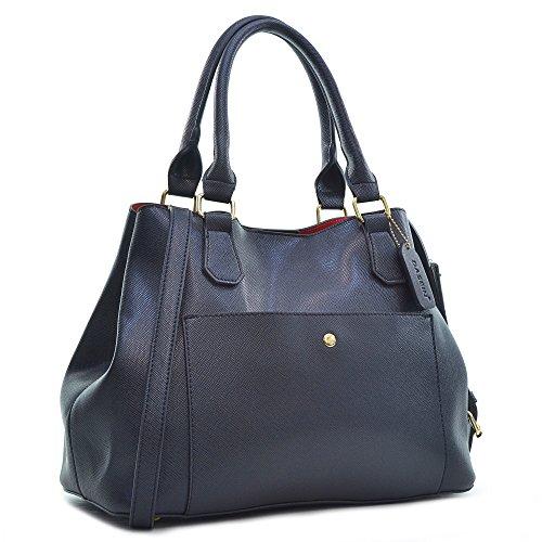 Fashion Saffiano Leather Satchel Shoulder