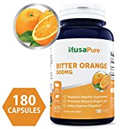 Bitter Orange 500mg 180caps (NON-GMO & Gluten Free) - Best Weight Loss Supplement - Natural Appetite Suppressant - 100% Money Back Guarantee - Order Risk Free!