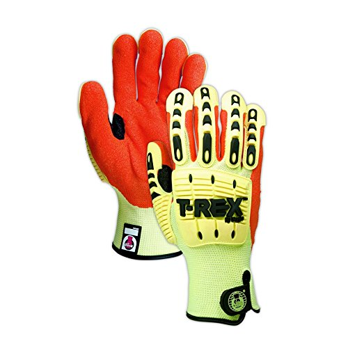 Magid Glove & Safety TRX540-XXXXL Magid T-REX TRX540 Impact Gloves - Cut Level A5, 8, Hi/Vis Yellow, 4XL by Magid Glove & Safety (Image #3)