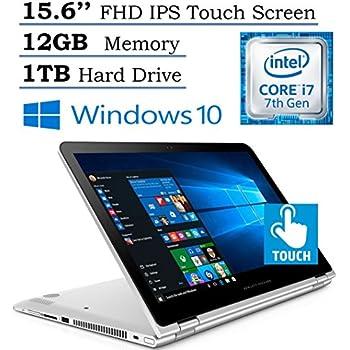 "HP Envy 15.6"" x360 2-in-1 Convertible Full HD IPS Touchscreen Laptop  Intel Core i7-7500U   12GB RAM   1TB HDD   Backlit Keyboard   Bluetooth   HDMI   B&O Play   Windows 10 (Silver)"