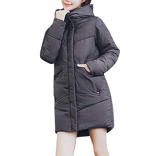 BBestseller Invierno Hooded Abrigo Sueltos Chaquetas de algodón Sudaderas cárdigan de Bolsillo con Cremallera Cazadora Acolchado Caliente Parka Pullover: ...