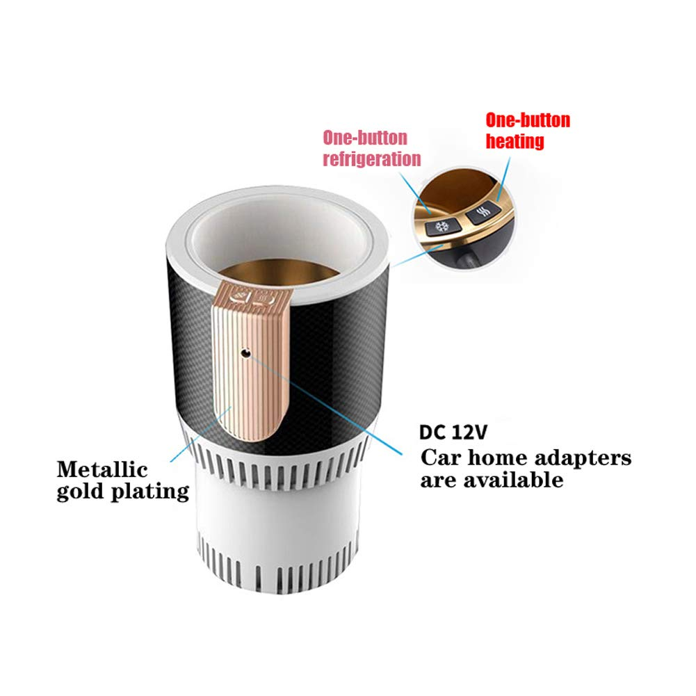 HLSUSAN Enfriador Calentador El/éctrico de Bebidas para Coche Portavasos para Autos Inteligente Refrigerador de 12V Silencioso Port/átil para Enfriamiento y Calefacci/ón