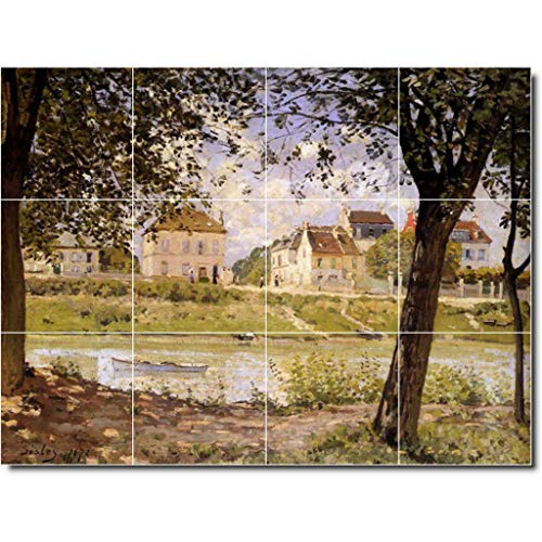 Ceramic Tile Mural-Alfred Sisley Country Painting 44. 24