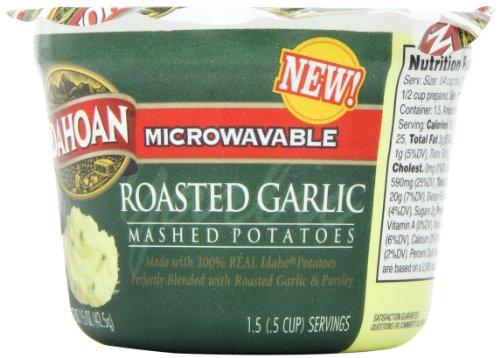 Idahoan Mashed Potatoes, Roasted Garlic, 1.5 Ounce (Pack of 12)