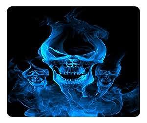 Phantom Design Rectangular Mouse Pad Blue Smoke