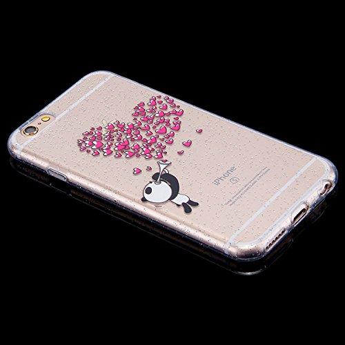 Funda iPhone 6/6S 4.7 pulgadas,SainCat Moda Alta Calidad suave de TPU Silicona Suave Funda Carcasa Parachoques Diseño pintado Patrón para Funda Barniz TPU Silicona Case Cover Caja Suave Gel Shock Abso Amor