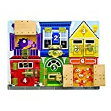 Melissa & Doug Wooden Latches Board, Developmental Toy, Sturdy Wooden Construction, Helps Develop Fine Motor Skills, 39.37 cm H x 29.21 cm W x 3.175 cm L