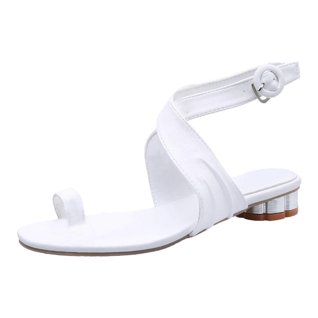 New in Respctful✿Fashion Sandals for Women 2019 Slingback Open Toe Lace Up Criss Cross Strap Ankle White by Respctful_shoes