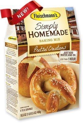 Fleischmann's, Simply Homemade, Pretzel Creations Mix, 16.5oz Box (Pack of (Fleischmann Box)