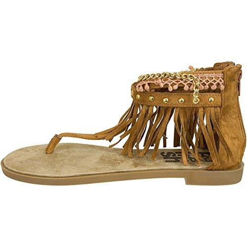 Refresh - Sandalias Romanas Mujer marrón claro