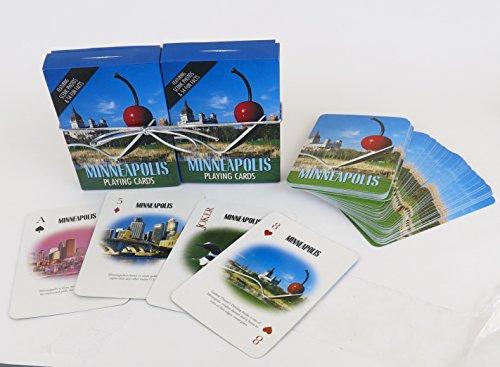 Review Minneapolis, souvenir playing cards,