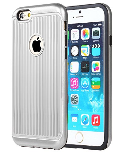Kapa VRS Clear Back [Drop Protection] Case Cover for Apple iPhone 8 / iPhone 7   Silver