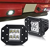 yukon denali fog lights xenon - TURBOSII Spot 3X3 4.5In Flush Mount Pods Cube Reverse Backup Lamp Auxiliary Driving Fog Lights Bumper Grille Offroad Work Light For Toyota Tacoma Ford Dodge Ram Pickup Truck Jeep ATV Boat Chevy