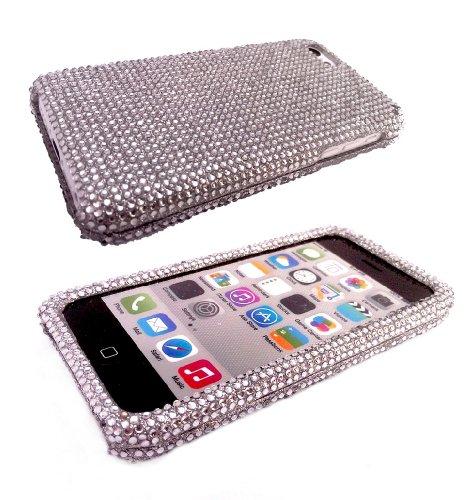 iphone 5C Diamante Diamond Diamonte Bling Swarovski Style Design Full Case/ Coque Avant et arrière Coque Case