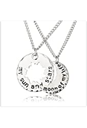 xiaoase®Game of Thrones Inspired My Sun and Stars Moon of My Life Necklace Set Pendant