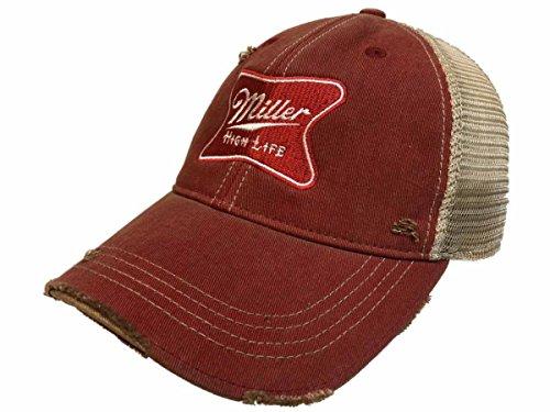 Original Retro Brand Miller High Life Brewing Company Retro Brand Vintage Mesh Beer Adjustable Hat Cap