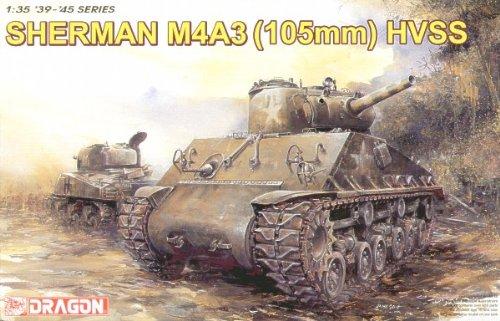 DRAGON MODELS USA 6354 1/35 Sherman M4A3 W/105mm Howitzer Gun