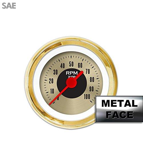 GAR13ZEXIAAAE American Classic Gold Assembled Tachometer Gauge Aurora Instruments