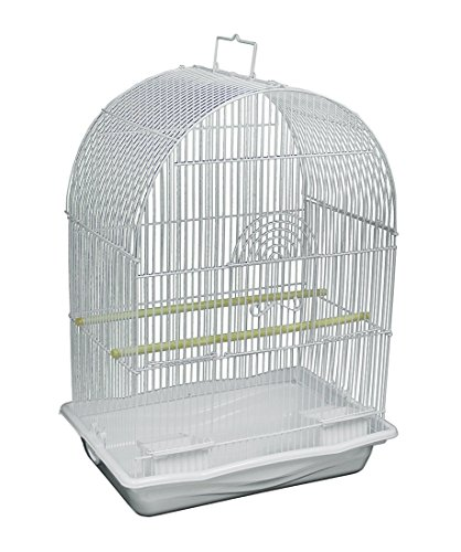 Finch Cage - Prevue Pets White Arched Top Companion Bird Cage by Prevue Pet Products