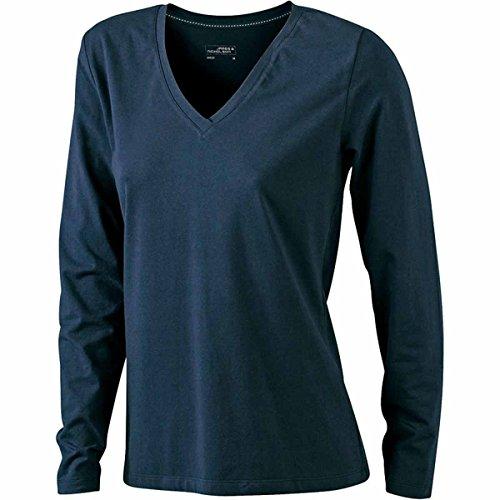 Mujer Marino amp; Para James Manga Básico Camiseta Azul Nicholson Larga zgq0qwZC