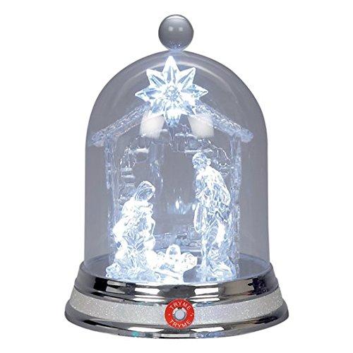 Acrylic Musical Christmas Nativity Scene Snow Dome 20.5cm Globe Decoration UK Christmas World