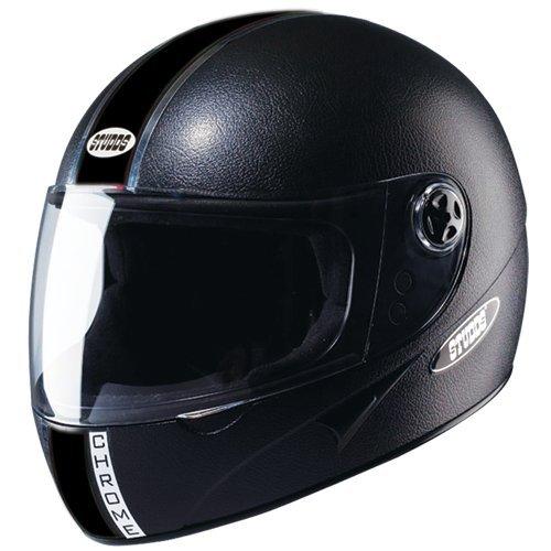 Buy Motorbike Full Face Helmets Studds Chrome Eco Helmet Black for men