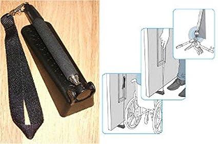 Tope para puertas telescópica para silla de ruedas