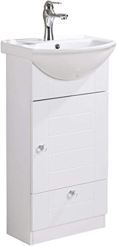 Small Bathroom Vanity Sink Cabinet Vitreous China Sink Come